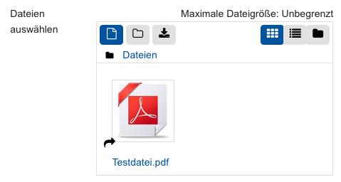 Screenshot aus Sciebo verlinkte Datei in der Dateiauswahl