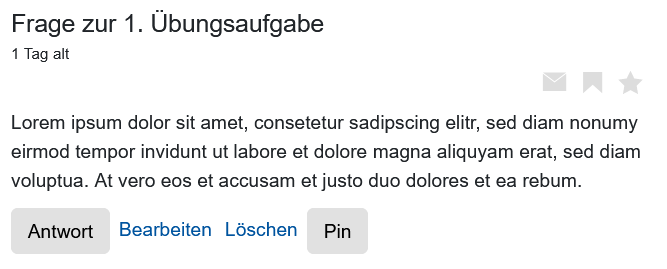 Screenshot Beitrag mit Pin-Option