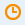 Orangefarbenes Uhrensymbol
