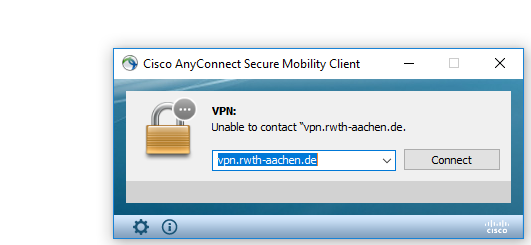 Cisco's AnyConnect Mobility Client  starten