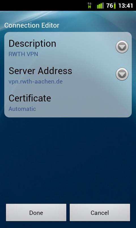 VPN konfigurieren